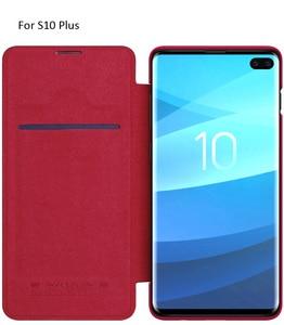 Image 5 - Кожаный чехол книжка Nillkin Qin для Samsung Galaxy S10 Plus S9 Plus Lite