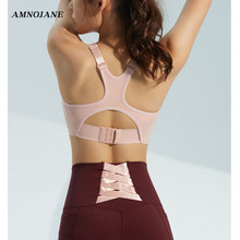 Soutien-gorge de Sport sans couture pour femmes, coussinets réglables, rose, Yoga hauts pièce