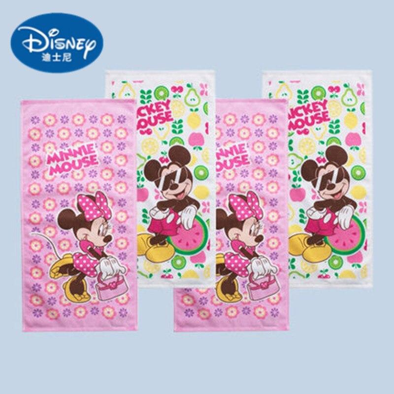 Disney 25*50cm Cute Mickey Cotton Towel Wash Home Cartoon Minnie Bath  Boy Girl Towel Children Rectangular Face Towel Bibs  Gift