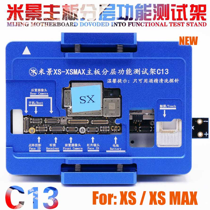 MiJing C13 For IPhone X Xs/Xs Max Board Function Testing No Meed Welding Upper And Lower Main Board Tester Maintenance Fixture