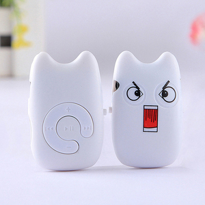 USB:2.0 4.8*3*1cm 4 Styles Cartoon Mini MP3 Player Cute Music Player Support TF Card MP3 Player