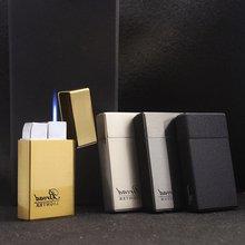Широкая Квадратная Металлическая газовая зажигалка струйная