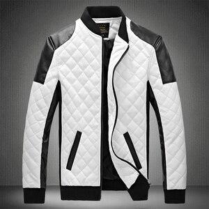 Image 1 - 2020 Mens מעילי עור מזדמן באיכות גבוהה קלאסי אופנוע אופני מעיל גברים בתוספת עבה מעילי האביב/סתיו chaqueta hombre