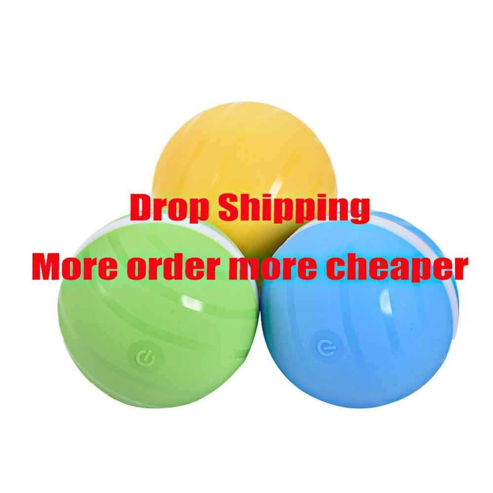 Automatic Magic Roller Ball Launcher Dog Toys Waterproof Jumping USB LED Rolling Flash Balls Fun Electric Cat Pet Kids Toy
