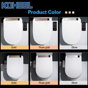 Image 5 - KOHEEL LCD 3 สีอัจฉริยะที่นั่งยาว Bidet ไฟฟ้าสมาร์ท Bidet ความร้อนสมาร์ทห้องน้ำที่นั่ง