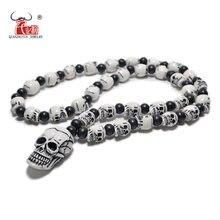 Fx802 популярное ожерелье с искусственными костями неосновное