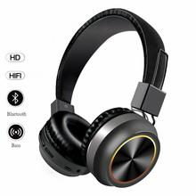 Bluetooth Headphones Freely Retractable Over Ear LED Light Up Wireless Headphones Foldable Stereo Headphones Bluetooth 5 0 cheap centechia NONE Dynamic CN(Origin) Wireless+Wired 105±3dB 30mW For Internet Bar Monitor Headphone for Video Game Common Headphone