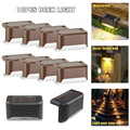 10Pcs Solar Powered LED Dekverlichting Outdoor Path Tuin Trappen Stap Hek Lamp J99Store