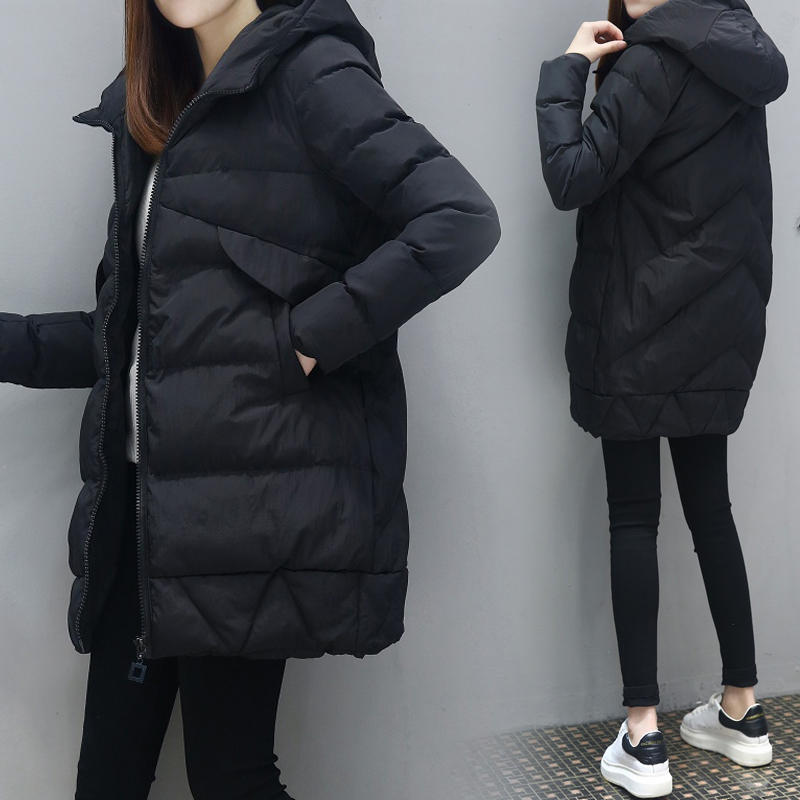 Autumn Winter Jacket Women Loose Warm Thicken Hooded Down Cotton Coat Female   Parka   Padded Plus Size Winter Coat Women 3XL Q1971
