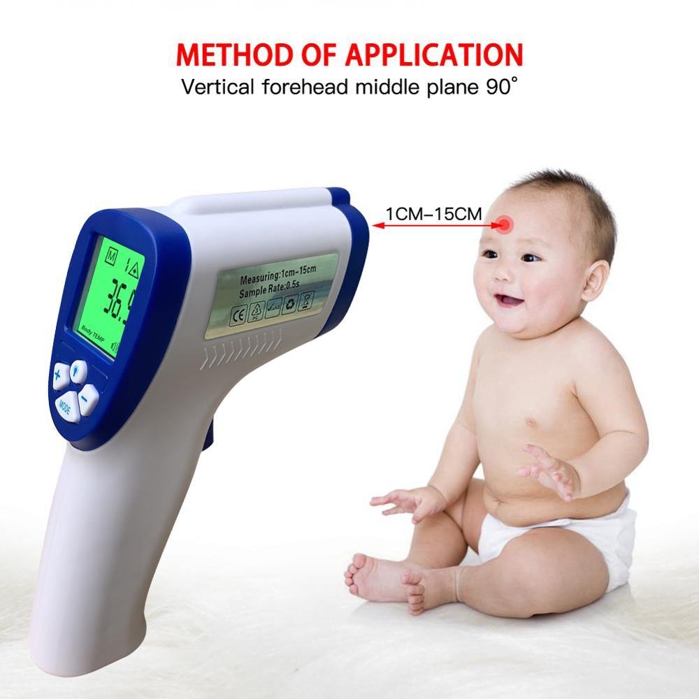 Infrared Thermometer Non-contact Digital Laser Temperature Gun with LCD Display LCD Digital Thermometer for Body Temperature 2