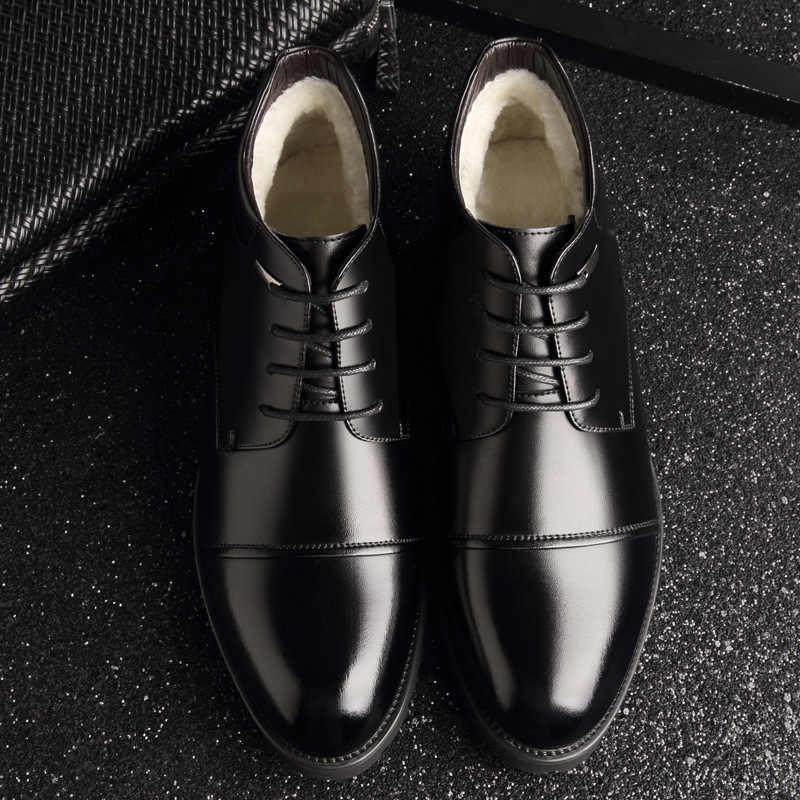 Neue Handgemachte Männer Echtes Leder Winter Stiefel Hohe Qualität Schnee Männer Stiefel Stiefeletten Für Männer Business Kleid Schuhe Männer 369