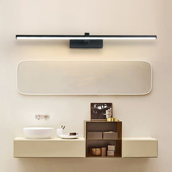 QLTEG Modern LED Mirror Lights long Black/White 0.4-1.2M Anti-fog LED Bathroom lights dressing table/toilet/bathroom mirror lamp