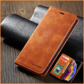 Skórzane etui z klapką magnetyczną dla IPhone 12 Mini Xs Xr X 11 pro Max portfel uchwyt pokrywa dla IPhone 8 7 6 6s Plus 5 5s se 2020 etui tanie i dobre opinie Zhonglibao CN (pochodzenie) 2020 Magnet flip 360 coque Caso Accessory Capa Funda Carcasa Cartera Apple iphone ów Matowy