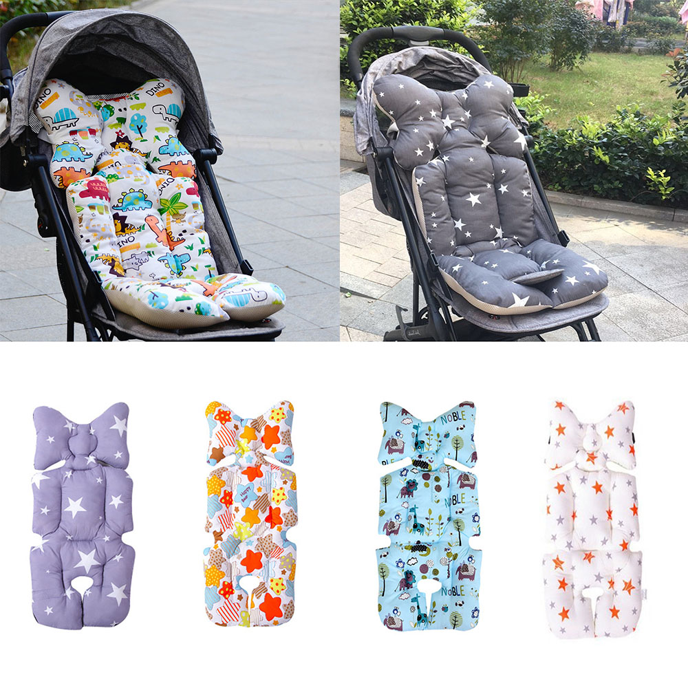 100% Cotton Baby Stroller Seat Cushion Thicken Soft Pram Mattress Stroller Accessories Breathable Trolley Pad Baby Carriages Mat