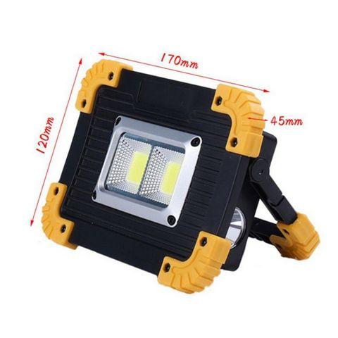 portatil hand held emergencia 20 w led luz de trabalho usb recarregavel lampada banco de