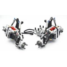 Blocos de construção moc peças técnicas, sistema de suspensão frontal do veículo da fórmula off road compatível com lego para crianças meninos brinquedo