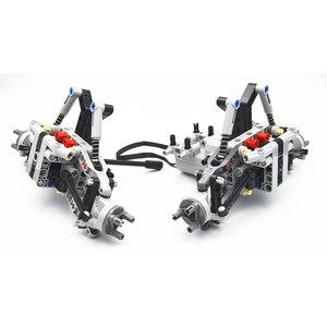 Image 1 - Bloki konstrukcyjne MOC Technic części formuła Off Road z przodu pojazdu System zawieszenia kompatybilne z lego dla dzieci chłopców zabawki