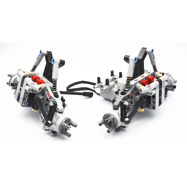 Bloki konstrukcyjne MOC Technic części formuła Off Road z przodu pojazdu System zawieszenia kompatybilne z lego dla dzieci chłopców zabawki