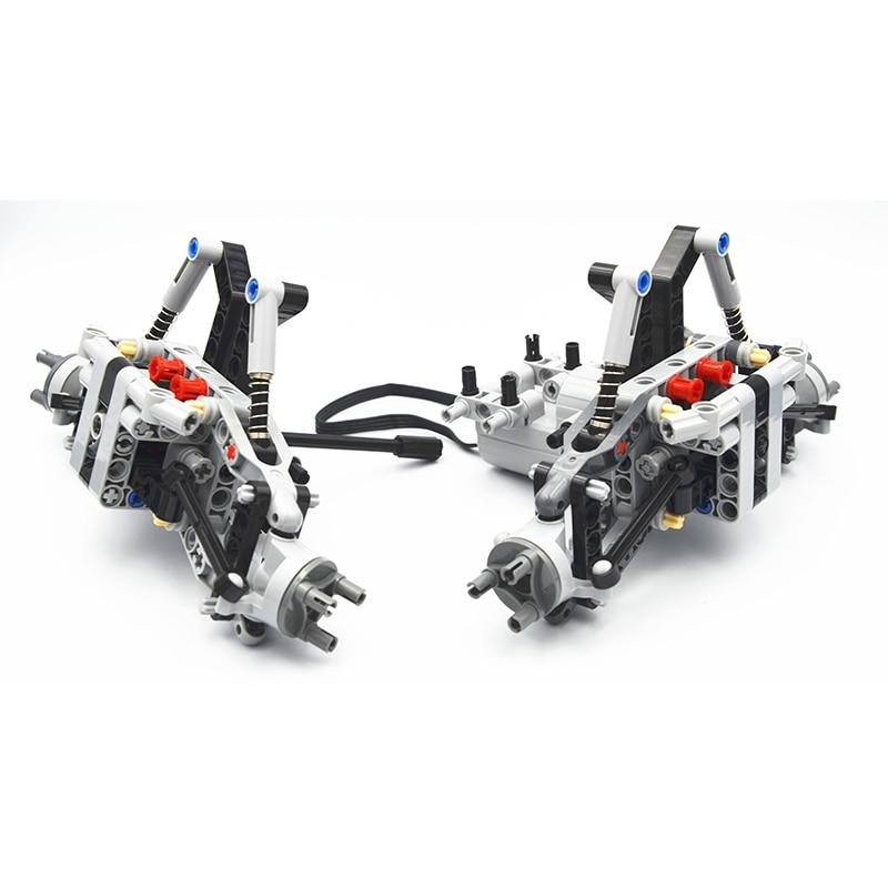 Детали конструктора MOC Technic, детали для внедорожника, передняя подвесная система, совместимы с lego, игрушки для мальчиков