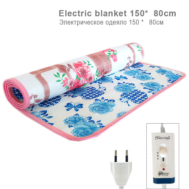 Electric Blankets 220V Double-sided Printing Double Heated Blanket Security Electric Blanket Electric Mat Body Warmer Heater