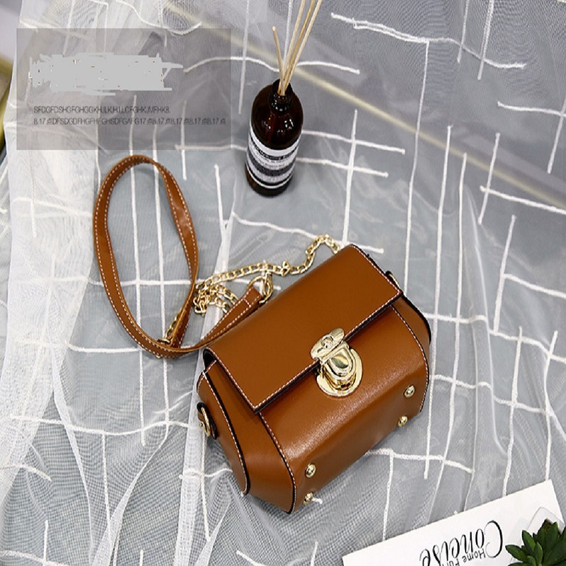 Small Bags Women's New Fashion Casual Shoulder Messenger Bag Korean Chain Small Square Bag
