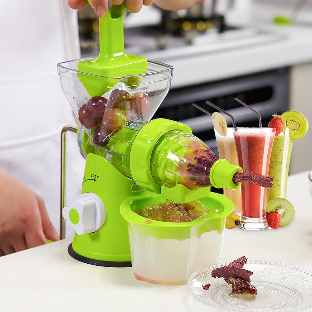 Manual Juicer Hand  Fresh Fruit Extractor Kitchen Tool Fruit Vegetable Manual Juicer Suction Base Household Tool