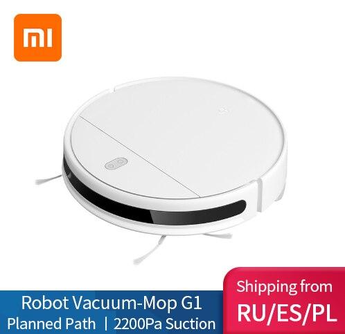 Новый робот пылесос XIAOMI MIJIA Mi, G1 для дома, беспроводная мойка, 2200PA, циклон всасывания, умный, спланированный, WIFI|Пылесосы|   | АлиЭкспресс