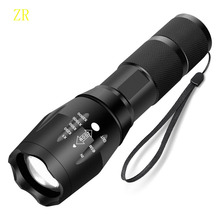 lotus head LED Rechargeable Flashlight  T6 linterna torch  18650 Battery Outdoor Camping Powerful Led Flashlight