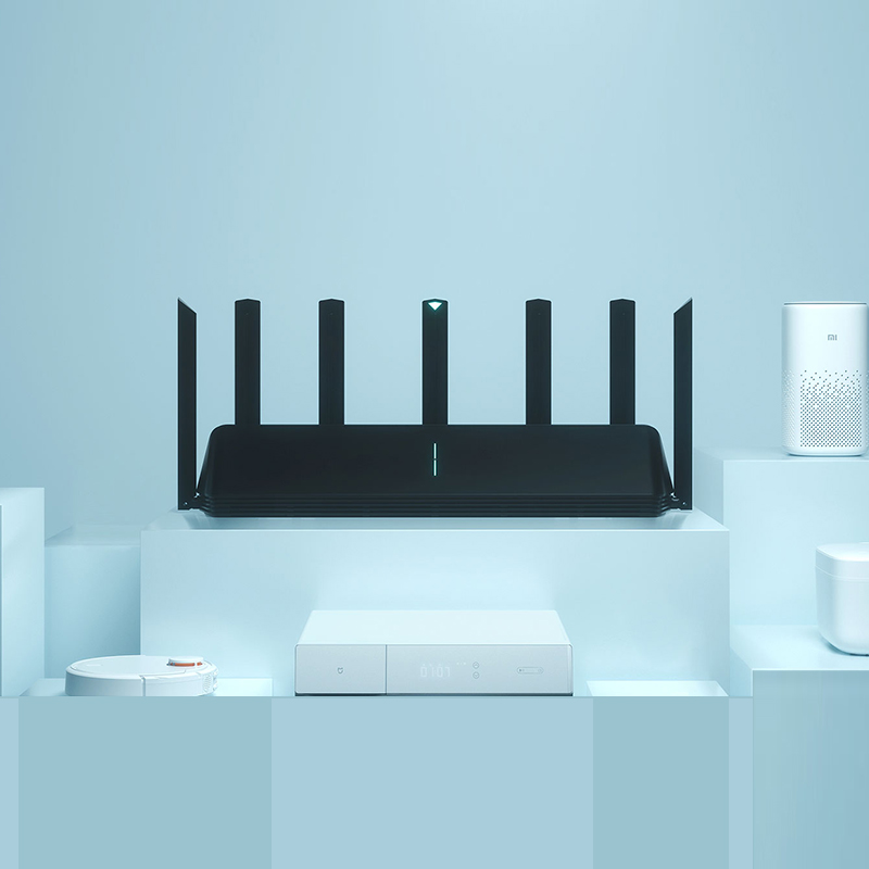 Global Version Xiaomi Mi AIoT Router AX3600 Six-Core Chip Dual-Frequency WiFi 3-Gigabit Wireless Rate WPA3 Network Encryption 6