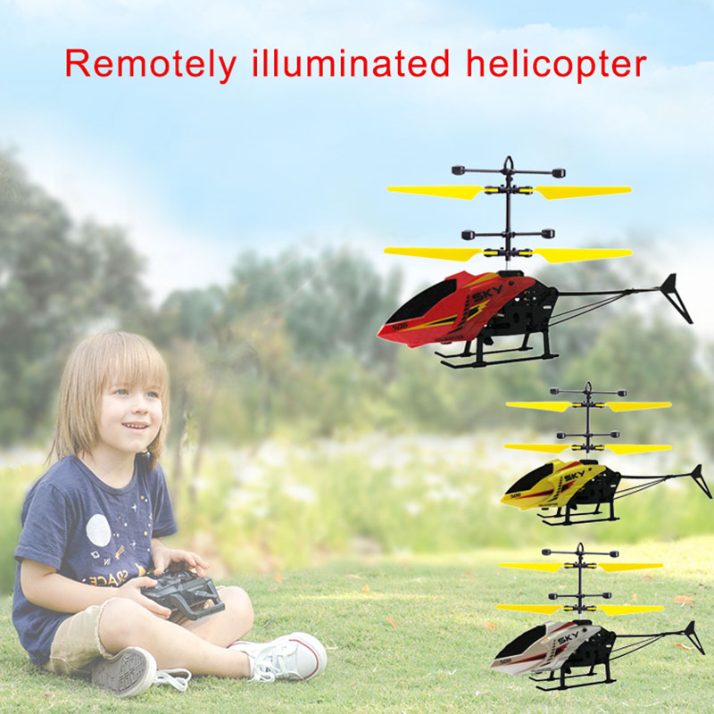 1PC High Quality Mini RC Helicopter Infrared Induction Aircraft LED Flashing Light Drone Children Kids Toys Mini RC
