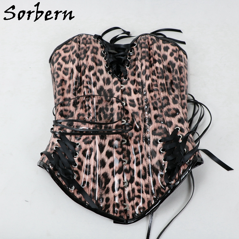Sorbern Custom Color Corset Women Fetish U-Shaped Cup Support Breast Steel Corset With Corset Lace Up Back Hourglass