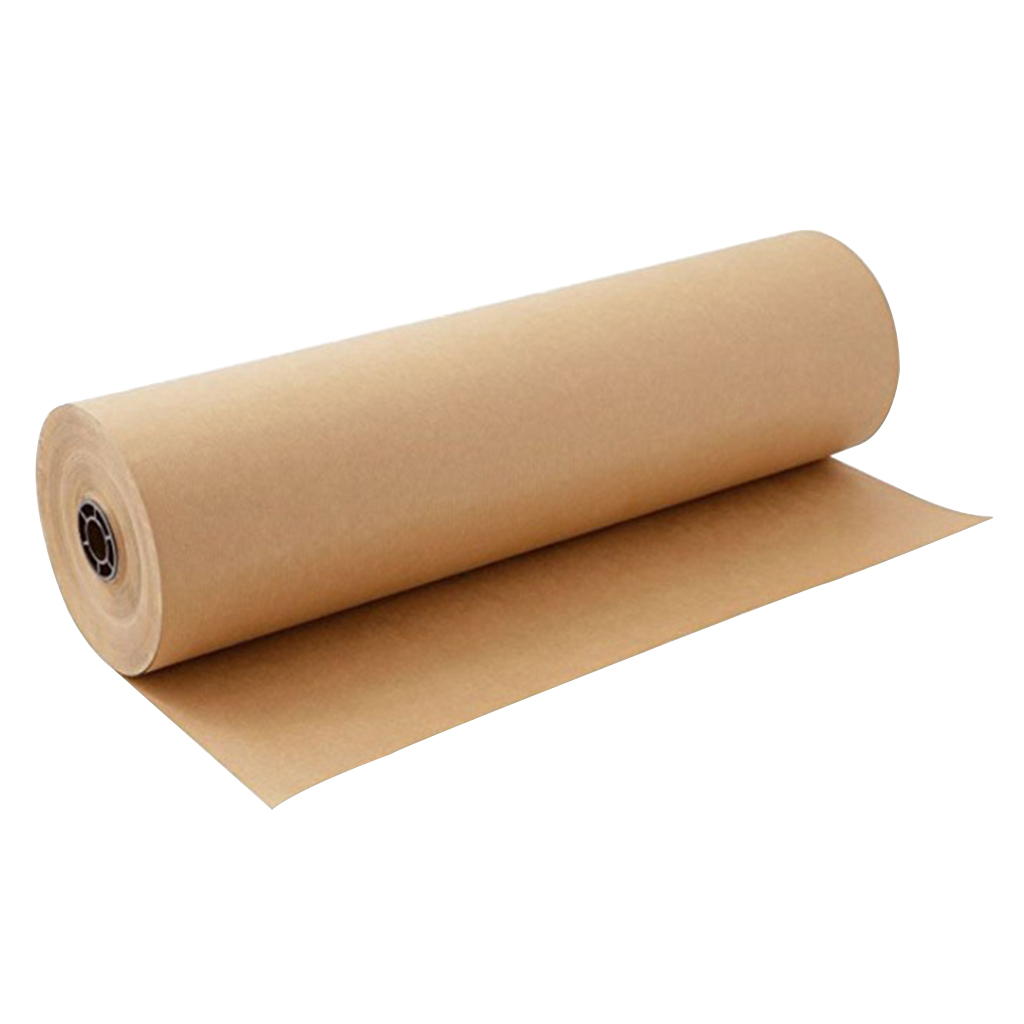 30 Meters Thick Blank Brown Kraft Packing Gift Wrapping Paper Roll 30cm Wide for DIY Wedding Decoration image