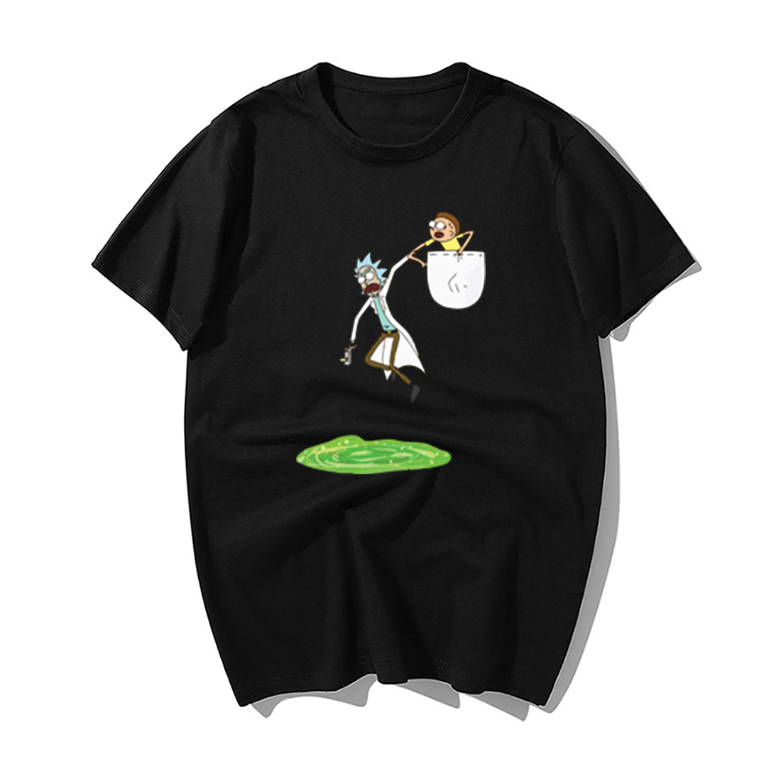 Funny Rick And Morty T Shirt Hip Hop Tops Men Fashion Print Tshirts 2019 Summer Cotton Short Sleeve Tshirt Harajuku Streetwear