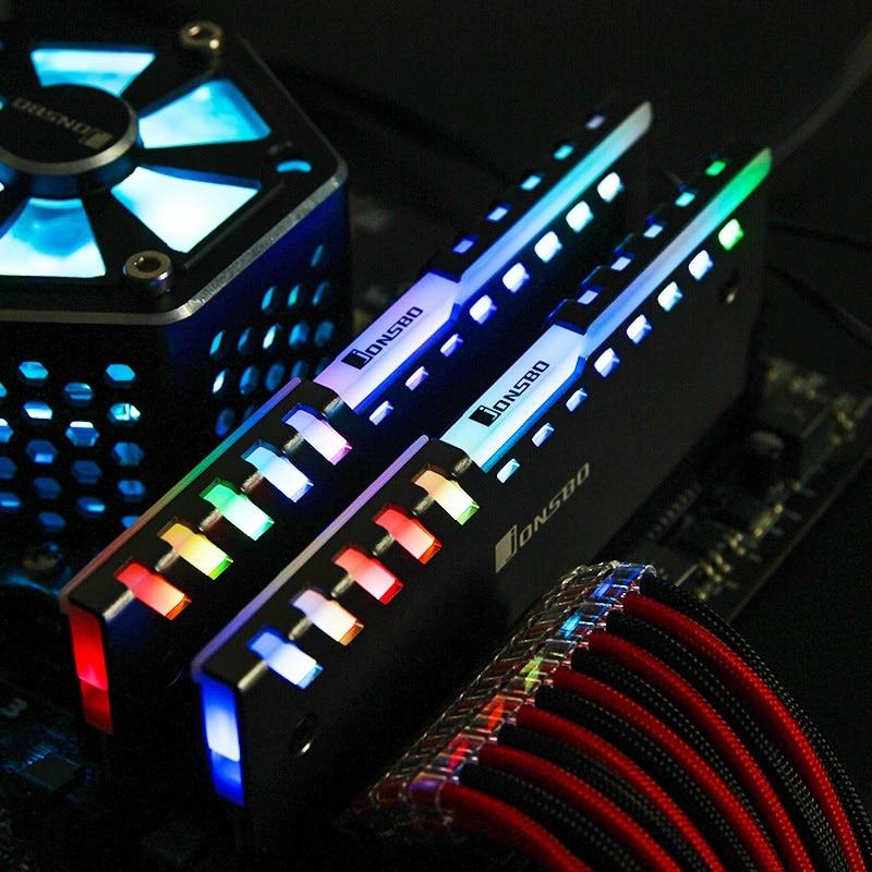 2Pcs Jonsbo NC-2 Colour Auto Change Desktop RAM Memory Cooling Vest Aluminum Cooler Vests