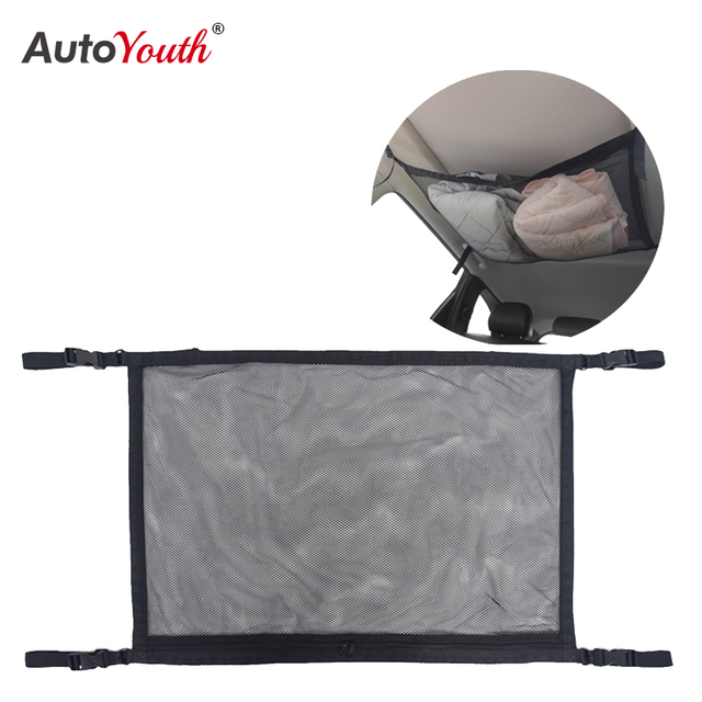Car Ceiling Mesh Storage Bag Roof Interior Cargo Universal Mesh Bag Can Expand The Sundries Toy Mesh Cloth Storage Bag