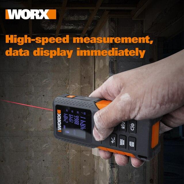 WORX Laser Rangefinder WX087 Distance Meter 40M Laser tape Range finder build Measure Digital Ruler trena roulette Dilatometer 3