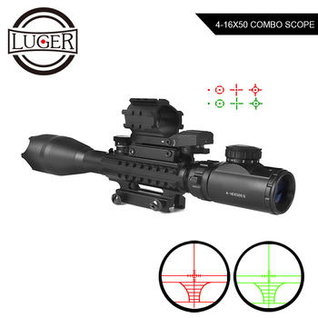 4-16x50 EG Hunting Optic Sight Riflescope Holographic Red Dot Reflex 4 Reticle Tactical Scope Airsoft Combo