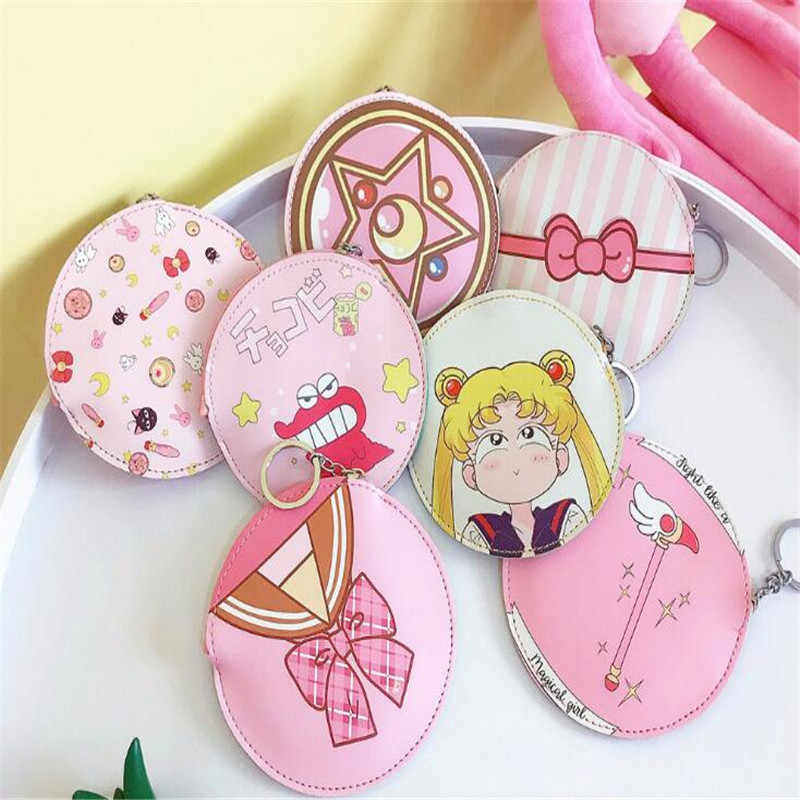 Cartera de dibujos animados Anime Sailor Moon monedero lindo monedero A864