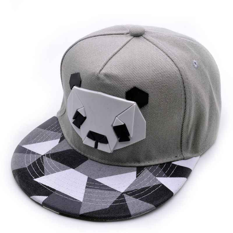 Hip Hop Running Cap Flat Brim Cartoon Cotton Hat Headwear With Adjustable Back Closure Sportswear Hats Outdoor Sports