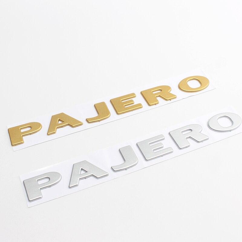 Для MITSUBISHI PAJERO V31 V32 V33 V43 цвета: золотистый, серебристый 3D из АБС-пластика с надписью на заднее отделение кузова эмблема задней двери, знак Пере...