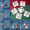 Модный Набор рождественских брошей с бумажной карточкой, Санта-Клаус, костыли, лось, акриловый снеговик, шляпа, Рождественская брошь, значки...