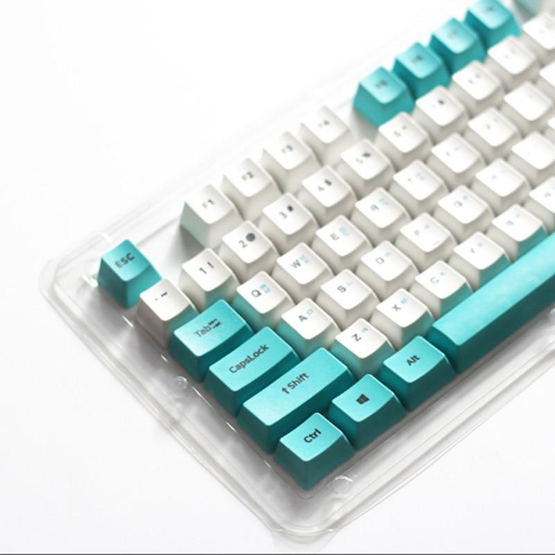 CuXiu PBT Keycap 104keys Cherry-Profile Keycaps Korean-Translucent Backlight Keycaps For Mechanical Keyboard