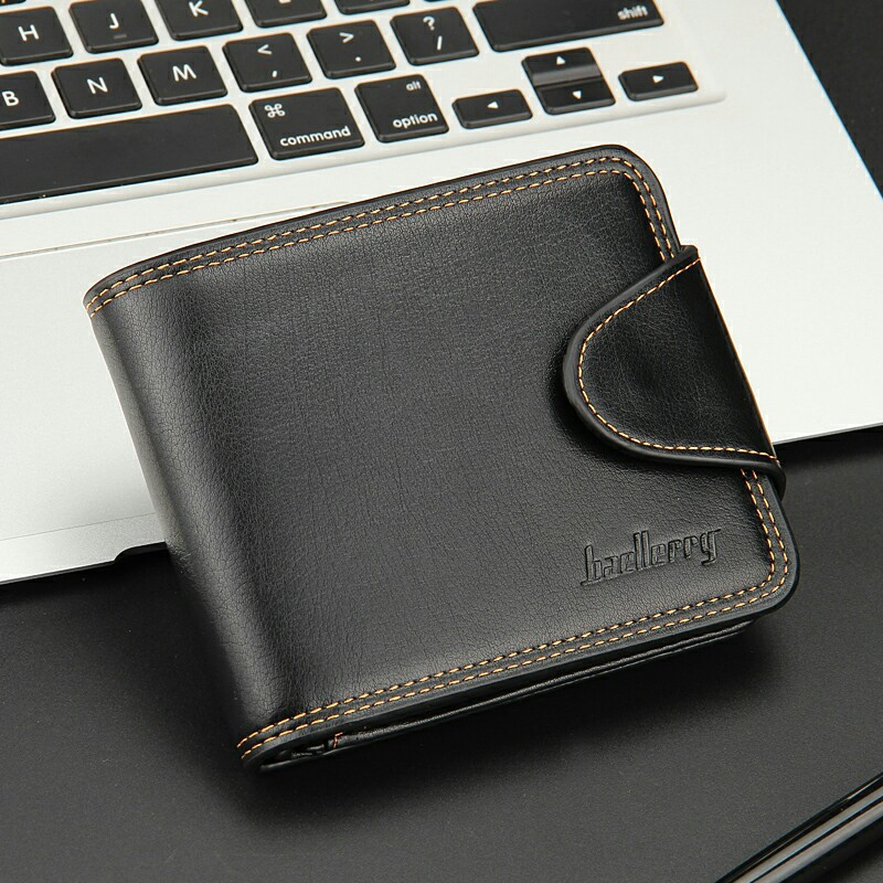 Small Men Wallets Credit Card Holders Zipper Luxury Brand Famous Handmade Leather Men Wallet Coin Pocket Male Purse Clutch Black