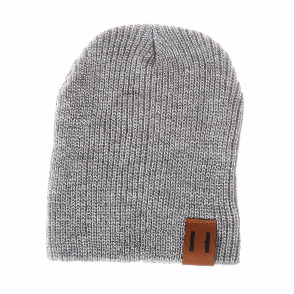 Toddler Infant Kids Boys Girls Solid Color Knited Woolen Headgear Hat Cap Fashion unisex winter warm solid Children's pullover