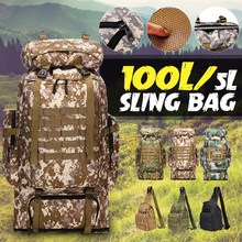 100L Large Military Backpack Molle Camping Bag Rucksack Tactical Backpack Men Hiking Climbing Travel Outdoor Sport Bags Rucksack