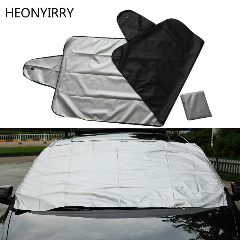 Car Exterior Protection Snow Blocked Car Covers Snow Ice Protector Visor Sun Shade Front Rear Windshield Cover Block Shields image