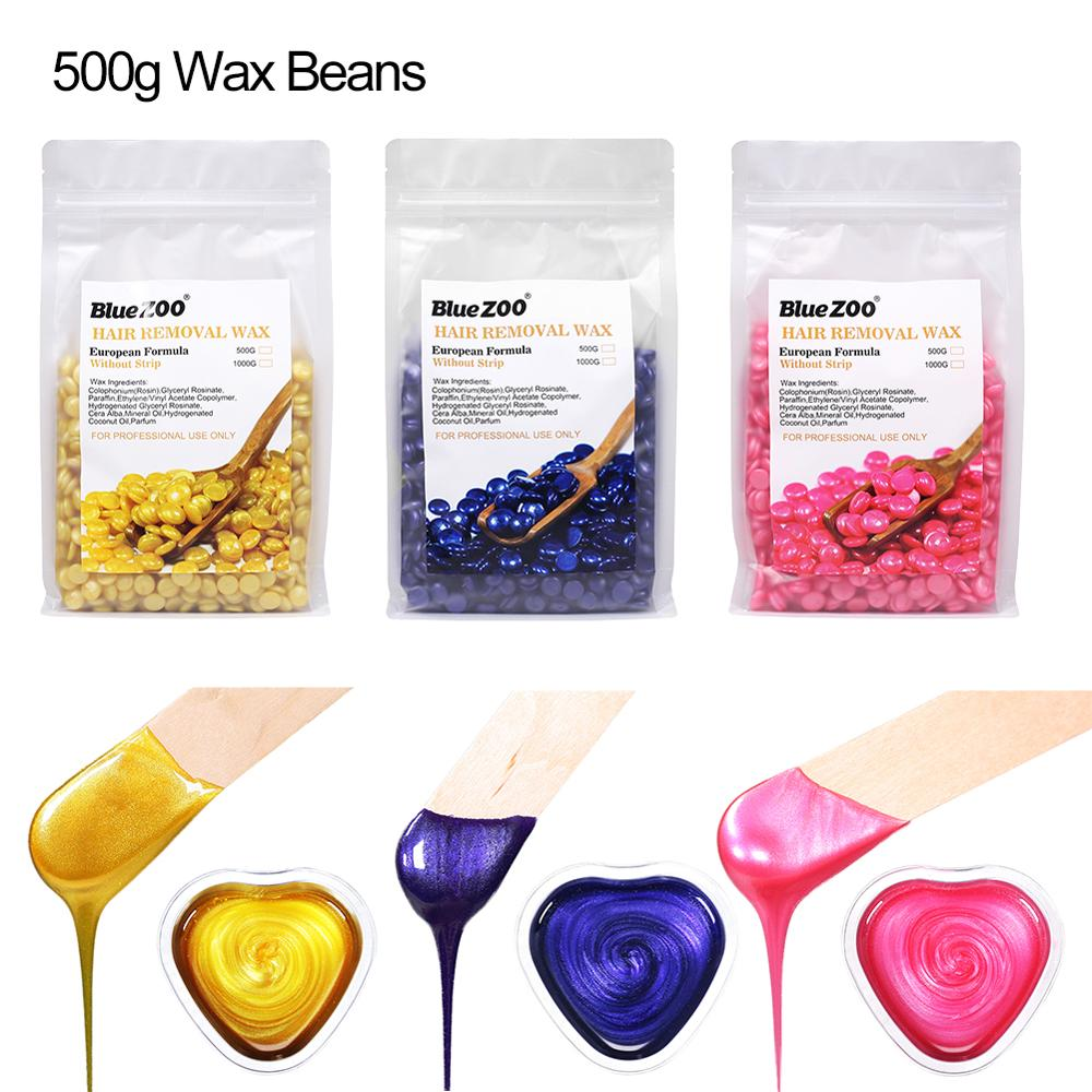 500g Depilatory Wax Beans Hot Film Hard Waxing Bikini Hair Removal Bean Women's Men Hair Removal Bean Tools