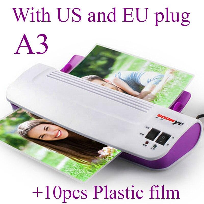Machine de plastifieuse chaude et froide de bureau thermique professionnel A3 pour le Plastificad de rouleau de Film plastique d'emballage de boursouflure de Photo de Document