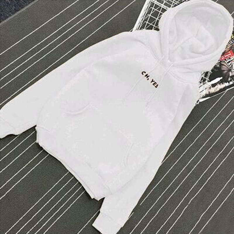 Oh Yes Hoodies Sweatshirts 2019 New Women Casual Kawaii Harajuku Fashion Punk For Clothing European Tops Korean White