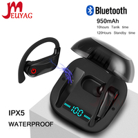 MEUYAG TWS Wireless Earphone Bluetooth 5.0 Stereo Music Headsets With Charging box Handsfree Waterproof Ear hook Earphones